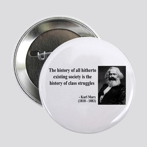 Karl Marx Quote 9 Button
