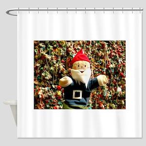 Gum Wall Gnome I Shower Curtain