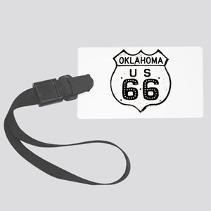 Route 66 Old Sign Oklahoma Large Luggage Tag