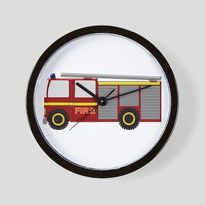 Fire Truck Wall Clock
