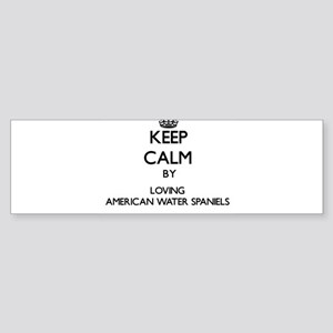 Keep calm by loving American Water Bumper Sticker