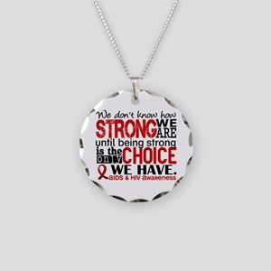 AIDS How Strong We Are Necklace Circle Charm