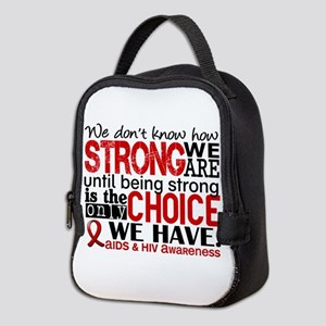 AIDS How Strong We Are Neoprene Lunch Bag