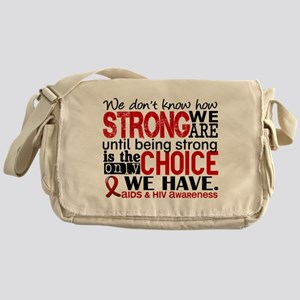AIDS How Strong We Are Messenger Bag
