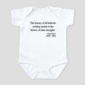 Karl Marx Text 9 Infant Bodysuit