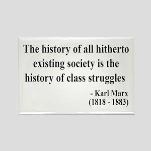 Karl Marx Text 9 Rectangle Magnet
