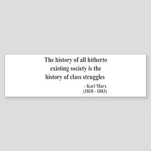 Karl Marx Text 9 Bumper Sticker