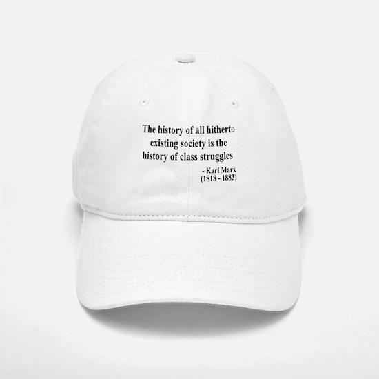 Karl Marx Text 9 Baseball Baseball Cap