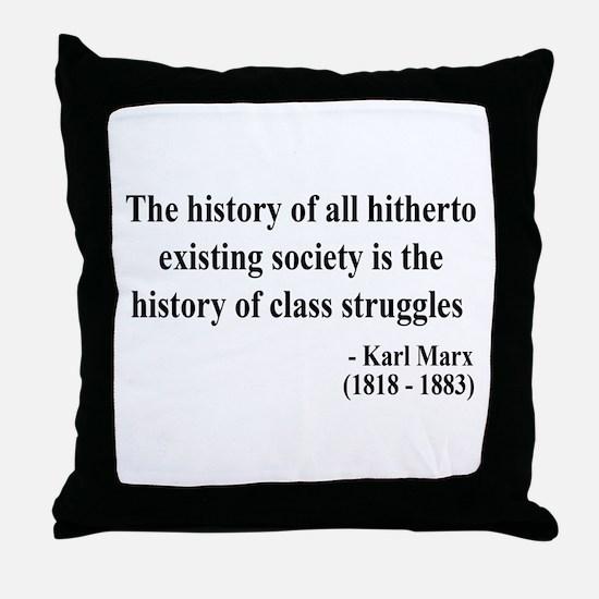 Karl Marx Text 9 Throw Pillow