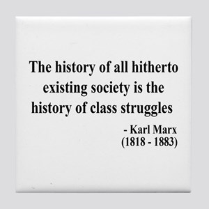 Karl Marx Text 9 Tile Coaster