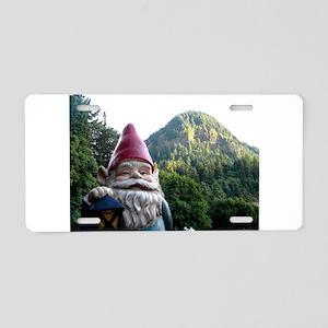 Mountain Gnome Aluminum License Plate