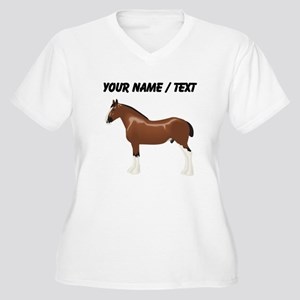 Custom Clydesdale Horse Plus Size T-Shirt