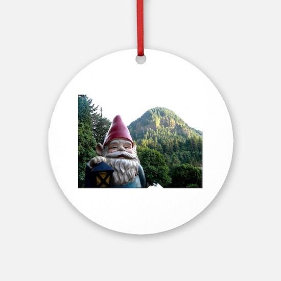 Mountain Gnome Ornament (Round)