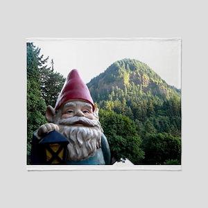 Mountain Gnome Throw Blanket