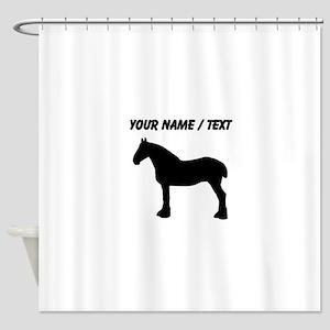 Custom Horse Silhouette Shower Curtain