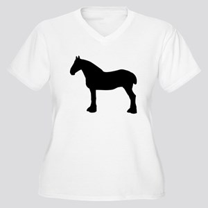 Horse Silhouette Plus Size T-Shirt