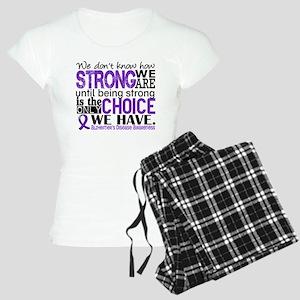 Alzheimer's HowStrongWeAre Women's Light Pajamas