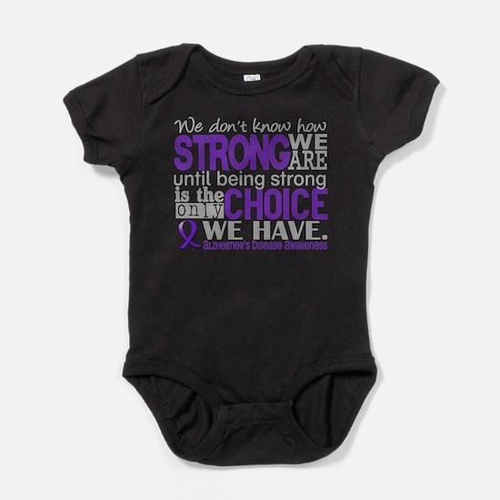 Alzheimer's HowStrongWeAre Baby Bodysuit