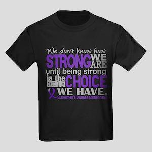Alzheimer's HowStrongWeAre Kids Dark T-Shirt