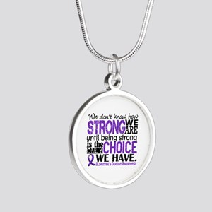 Alzheimer's HowStrongWeAre Silver Round Necklace