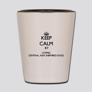 Keep calm by loving Central Asia Shephe Shot Glass