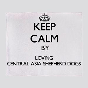 Keep calm by loving Central Asia She Throw Blanket