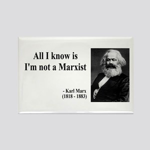 Karl Marx Quote 10 Rectangle Magnet
