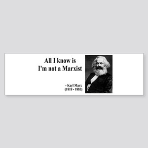 Karl Marx Quote 10 Bumper Sticker