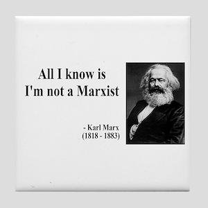 Karl Marx Quote 10 Tile Coaster