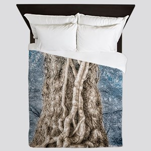 Infrared: Tree with Vines Queen Duvet