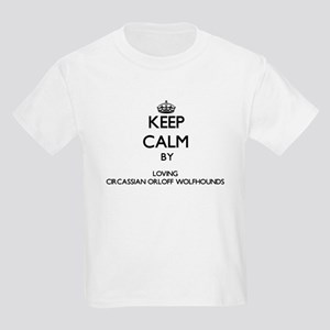 Keep calm by loving Circassian Orloff Wolf T-Shirt