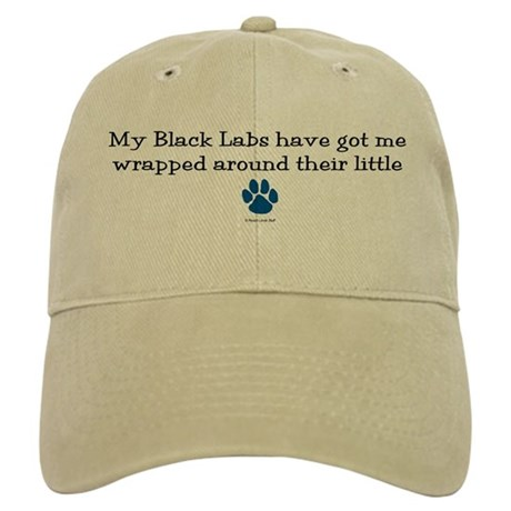 Wrapped Around Their Paws (Black Lab) Cap