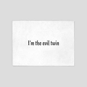 I'm the evil twin 5'x7'Area Rug