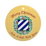 Merry Xmas Ornament (Round)