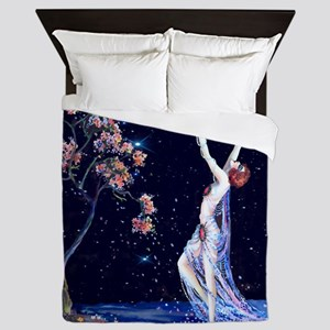 Tsanya Starlight Dancer, Art Deco Queen Duvet