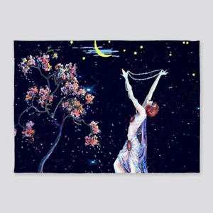 Tsanya Starlight Dancer, Art Deco 5'x7'Area Rug