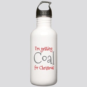 I'm getting COAL for Christmas Sports Water Bottle
