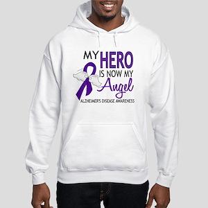 Alzheimers Hero Now My Angel Hooded Sweatshirt