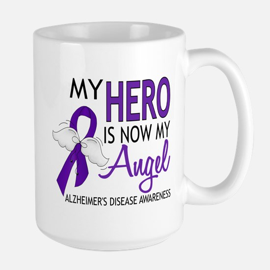 Alzheimers Hero Now My Angel Large Mug