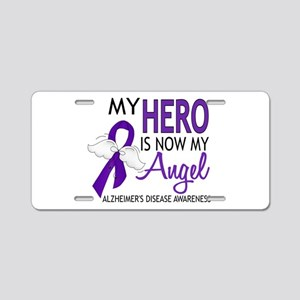 Alzheimers Hero Now My Ange Aluminum License Plate