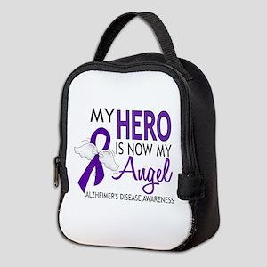 Alzheimers Hero Now My Angel Neoprene Lunch Bag
