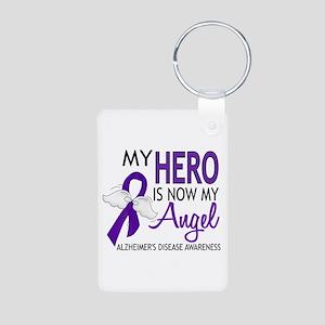 Alzheimers Hero Now My Ang Aluminum Photo Keychain