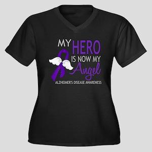Alzheimers H Women's Plus Size V-Neck Dark T-Shirt