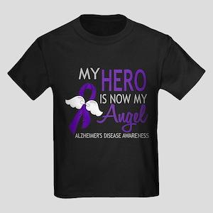 Alzheimers Hero Now My Angel Kids Dark T-Shirt