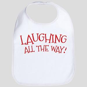 Laughing all the way! Christmas design Bib