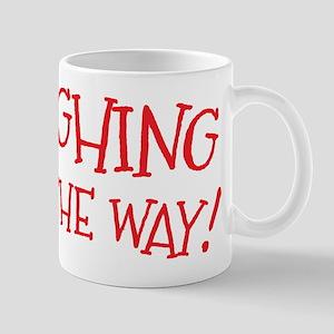 Laughing all the way! Christmas design Mugs