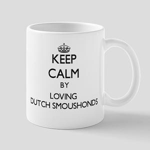Keep calm by loving Dutch Smoushonds Mugs