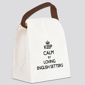 Keep calm by loving English Sette Canvas Lunch Bag