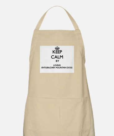 Keep calm by loving Entlebucher Mountain Dog Apron