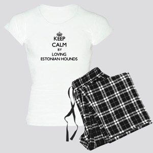 Keep calm by loving Estonia Women's Light Pajamas